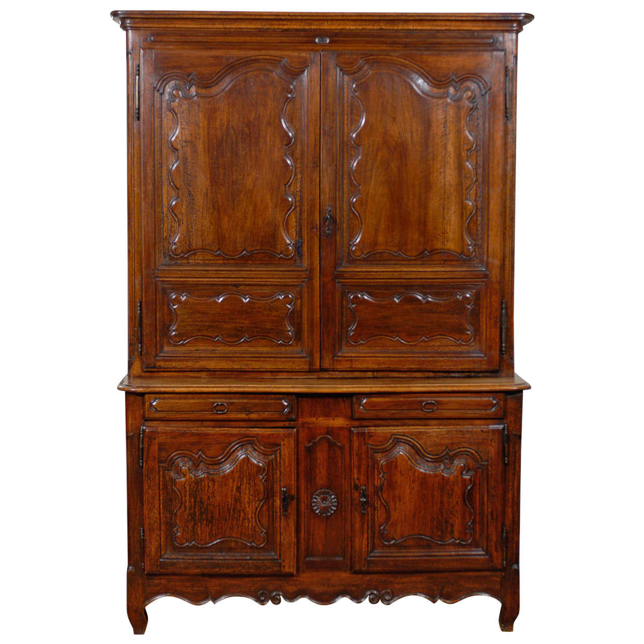 trendy th century french buffet deux corps with buffet rouge laqu. Black Bedroom Furniture Sets. Home Design Ideas