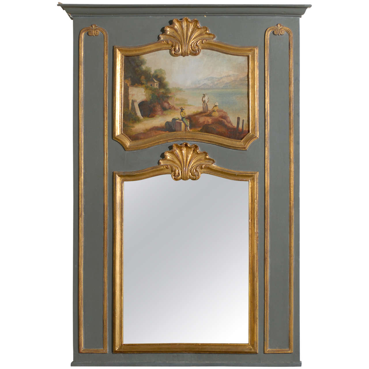 trumeau mirror louis xv xvi at 1stdibs. Black Bedroom Furniture Sets. Home Design Ideas
