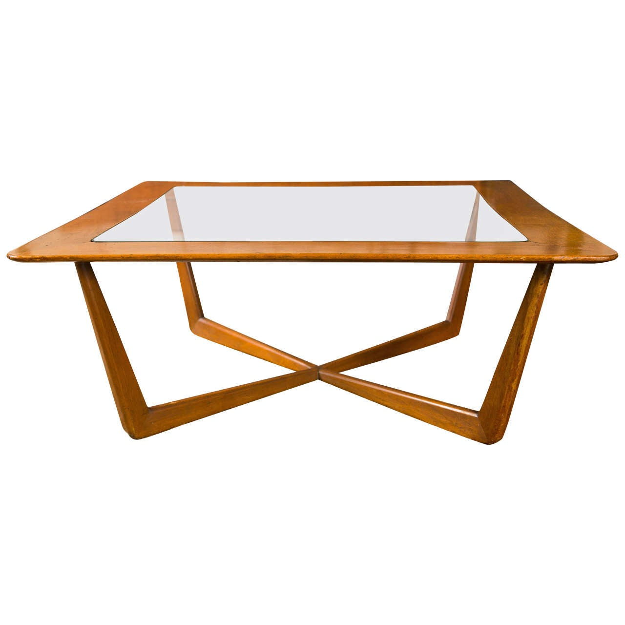 American Walnut Coffee Table At 1stdibs
