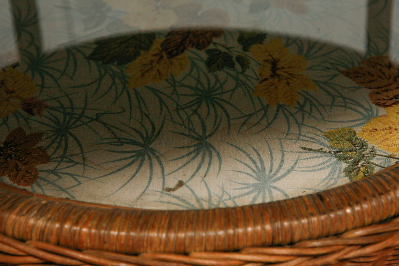 French Wicker Table At 1stdibs