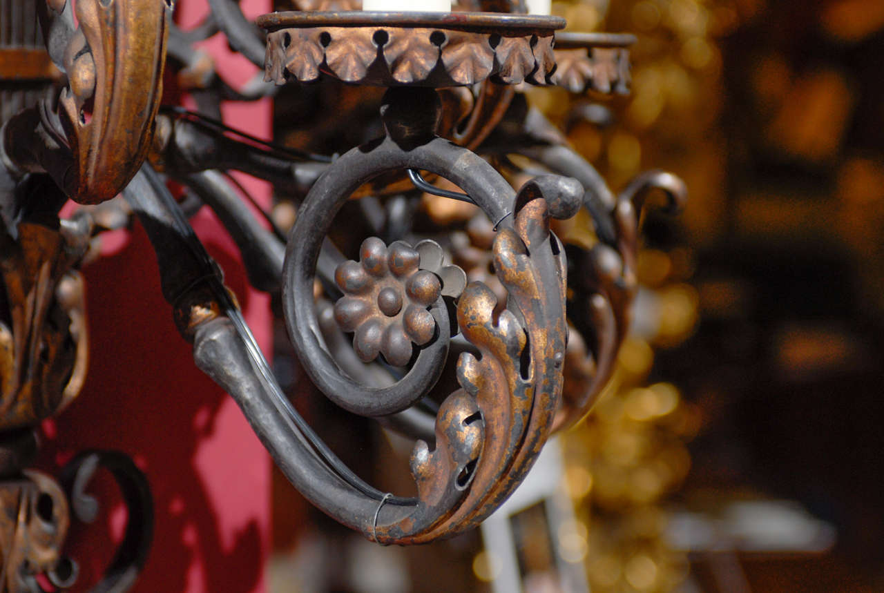 Iron Pair of antique iron sconces For Sale