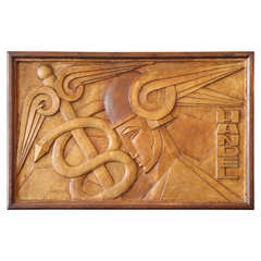 Handel Relief Panel of Hermes and His Caduceus