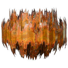 Brutalist Copper Chandelier