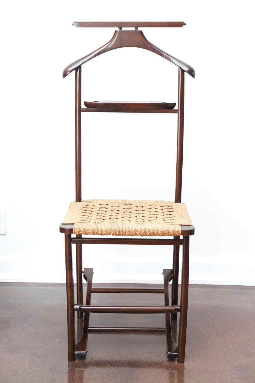 Vintage Valet Chair With Caned Seat At 1stdibs - Antique Valet Chair - Best 2000+ Antique Decor Ideas