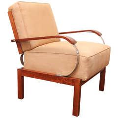 Lajos Kozma Upholstered Lounge Chair