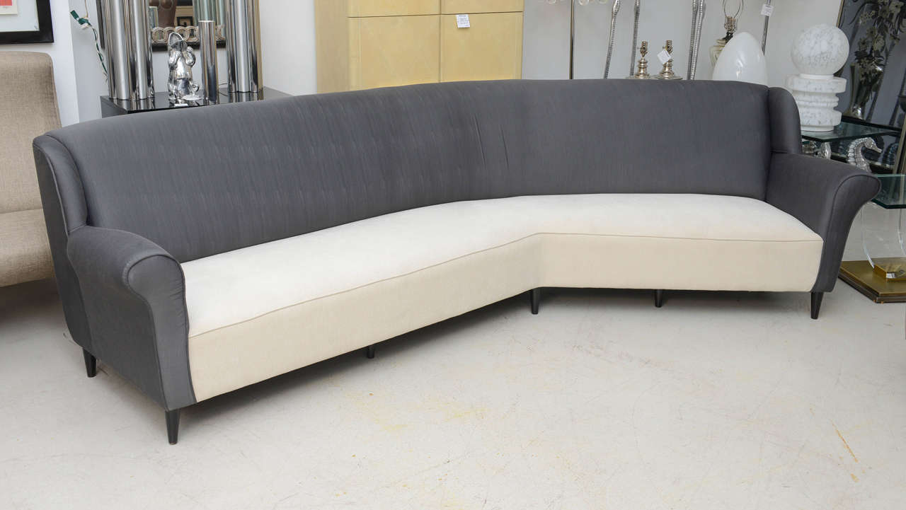 extra long vintage italian sofa at 1stdibs. Black Bedroom Furniture Sets. Home Design Ideas