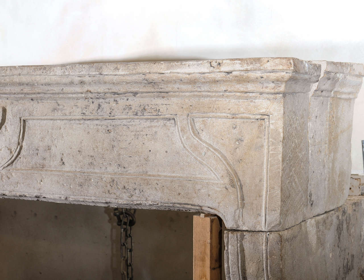 18th Century French Limestone Fireplace In Baroque Style At 1stdibs