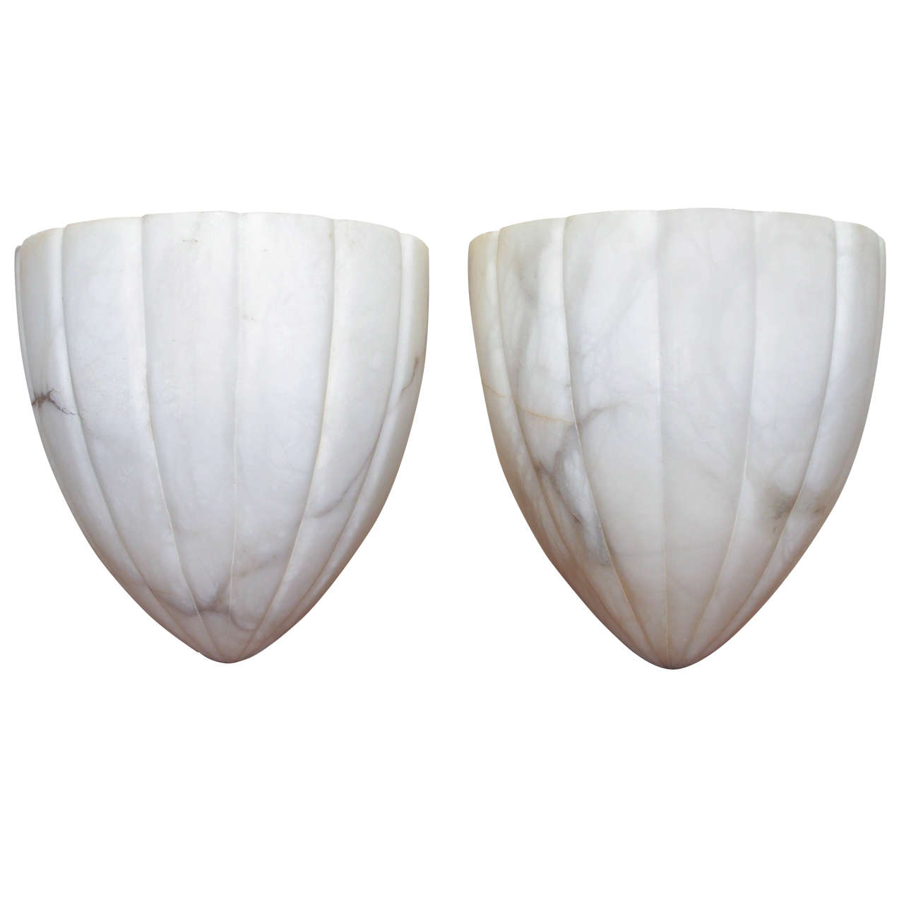 Pair of 1950s Alabaster Sconces