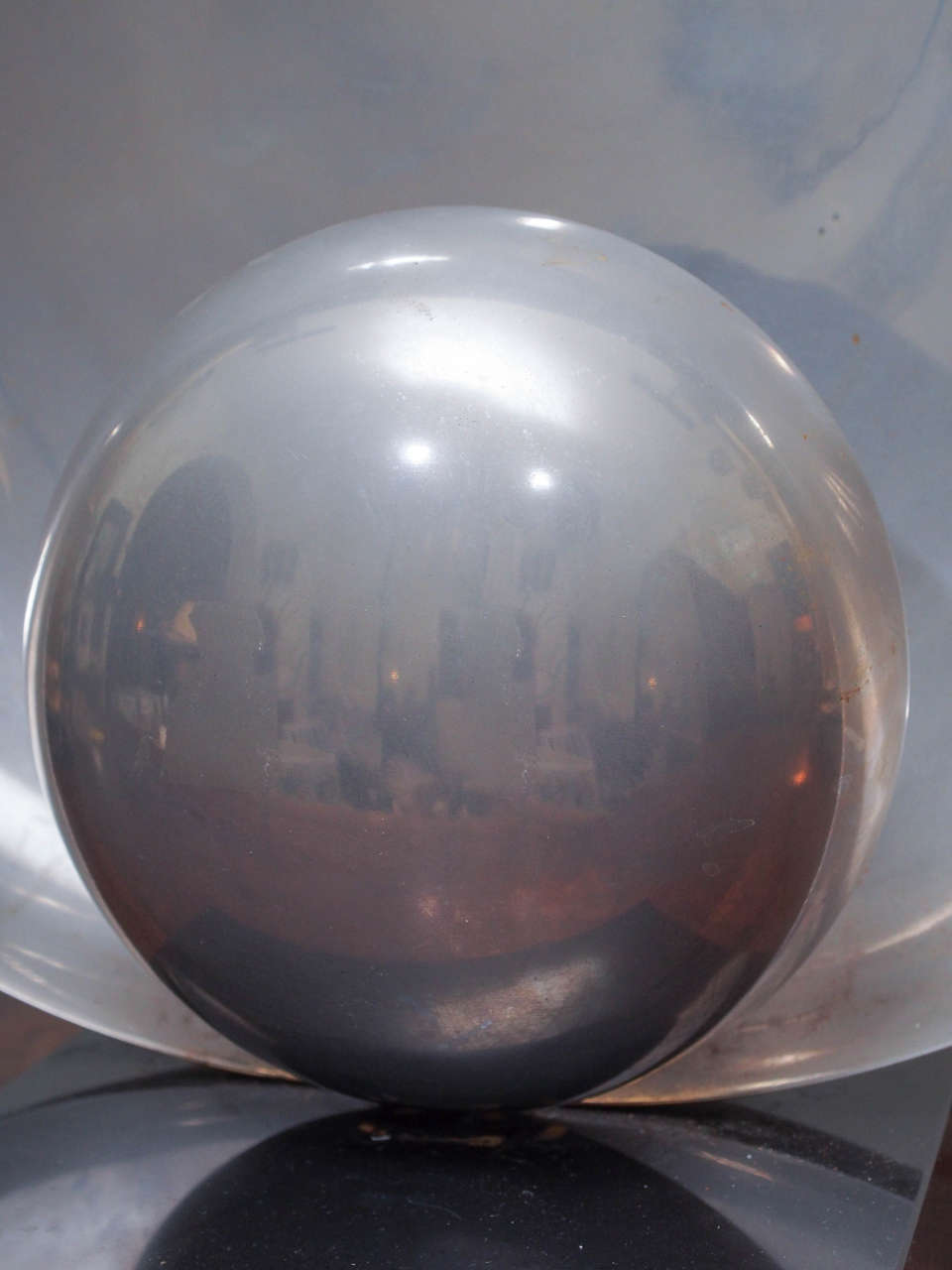 French Art Deco Silver Moon Lamp For Sale