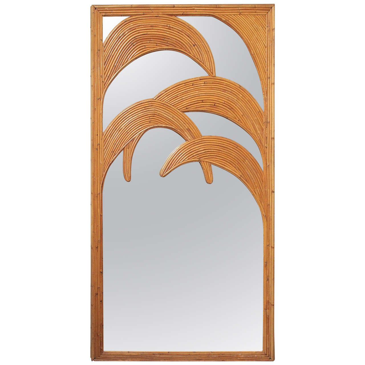 1970s Bamboo Mirror, France
