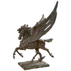 Bronze Pegasus Statue by Laszlo Ispanky