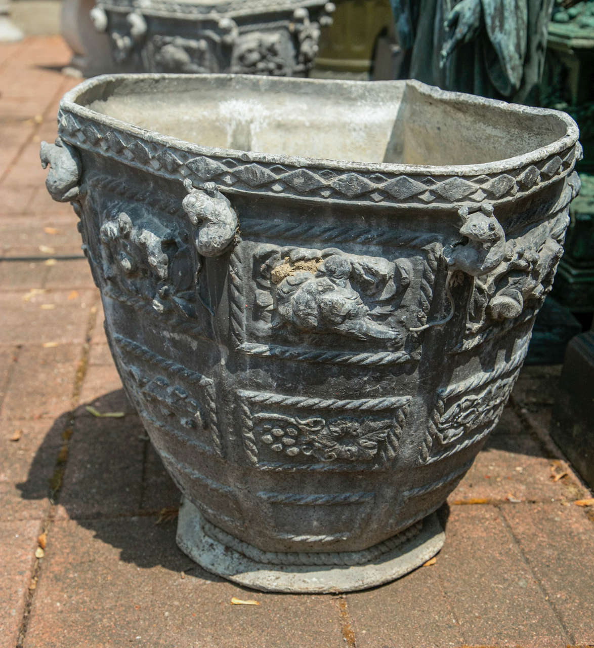 Pair of Bromsgrove Guild Lead Urns For Sale at 1stdibs