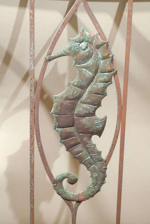 Pair Of Art Deco Iron Gates With Seahorses For Sale At 1stdibs