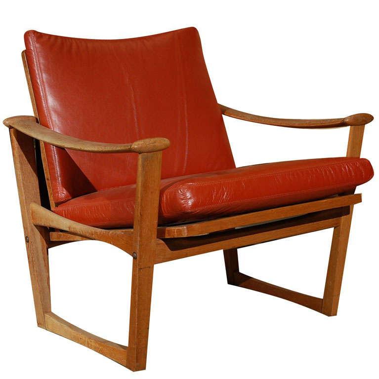 Pair of karen and ebbe clemmensen armchairs at 1stdibs