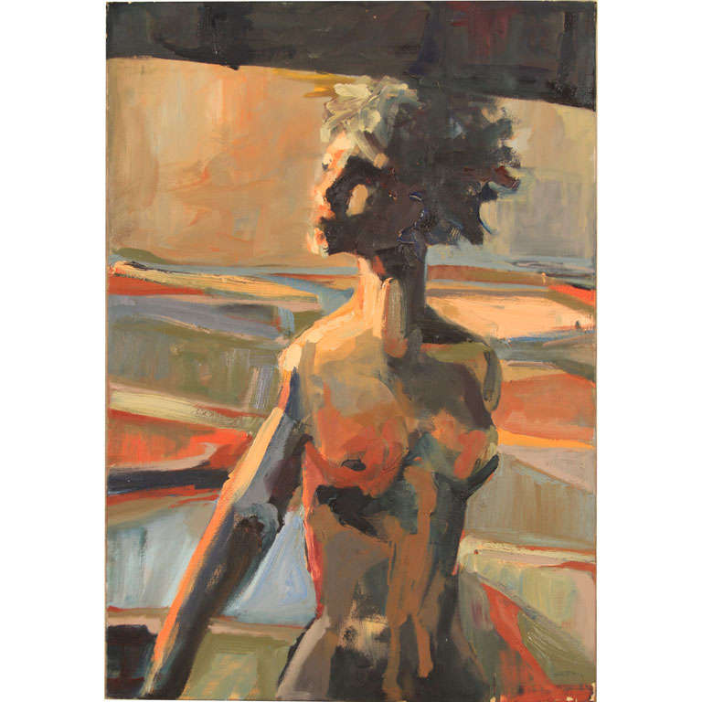 Modernist Nude Oil Painting