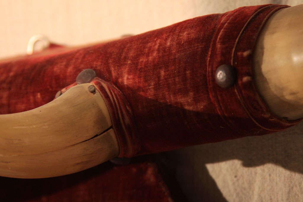 Rustic Horn & Velvet  Hat Rack image 8