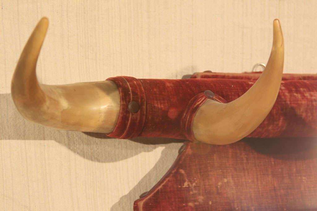 Rustic Horn & Velvet  Hat Rack image 9