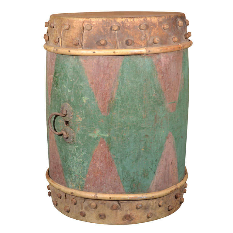 Antique Tribal Drum As End Table At 1stdibs