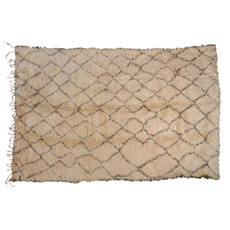 Wool berber carpet northern morocco at 1stdibs for Wool berber carpet cost