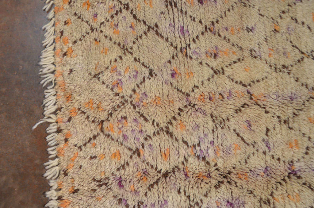 Wool berber carpet northern morocco at 1stdibs for Wool berber area rug