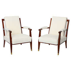 Fine Pair of Armchairs by Jules Leleu
