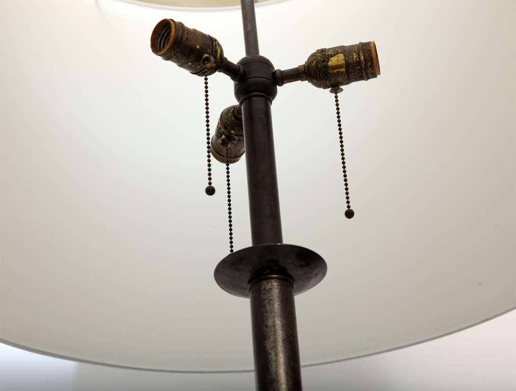 Floor Lamp Art Deco Wrought Iron, France, 1920s For Sale 1