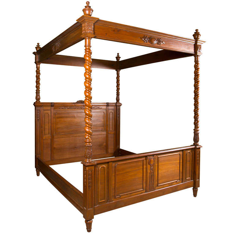 antique olympic queen size canopy bed at 1stdibs