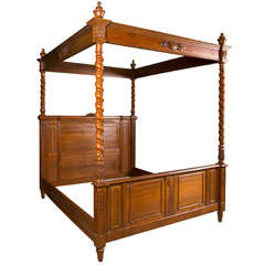 Antique Olympic Queen Size Canopy Bed