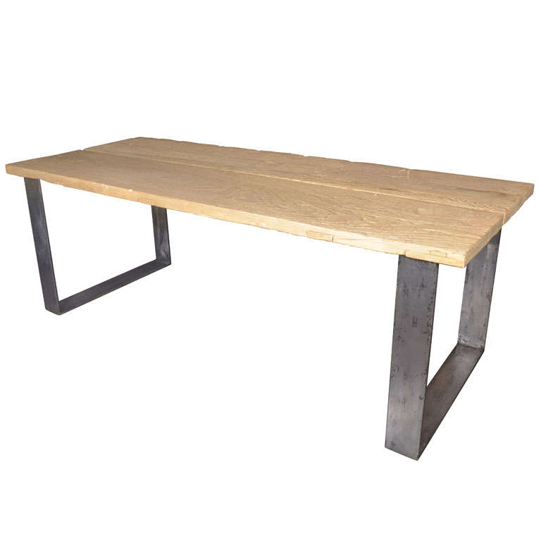 Contemporary Dining Table Made From Reclaimed Wood At 1stdibs