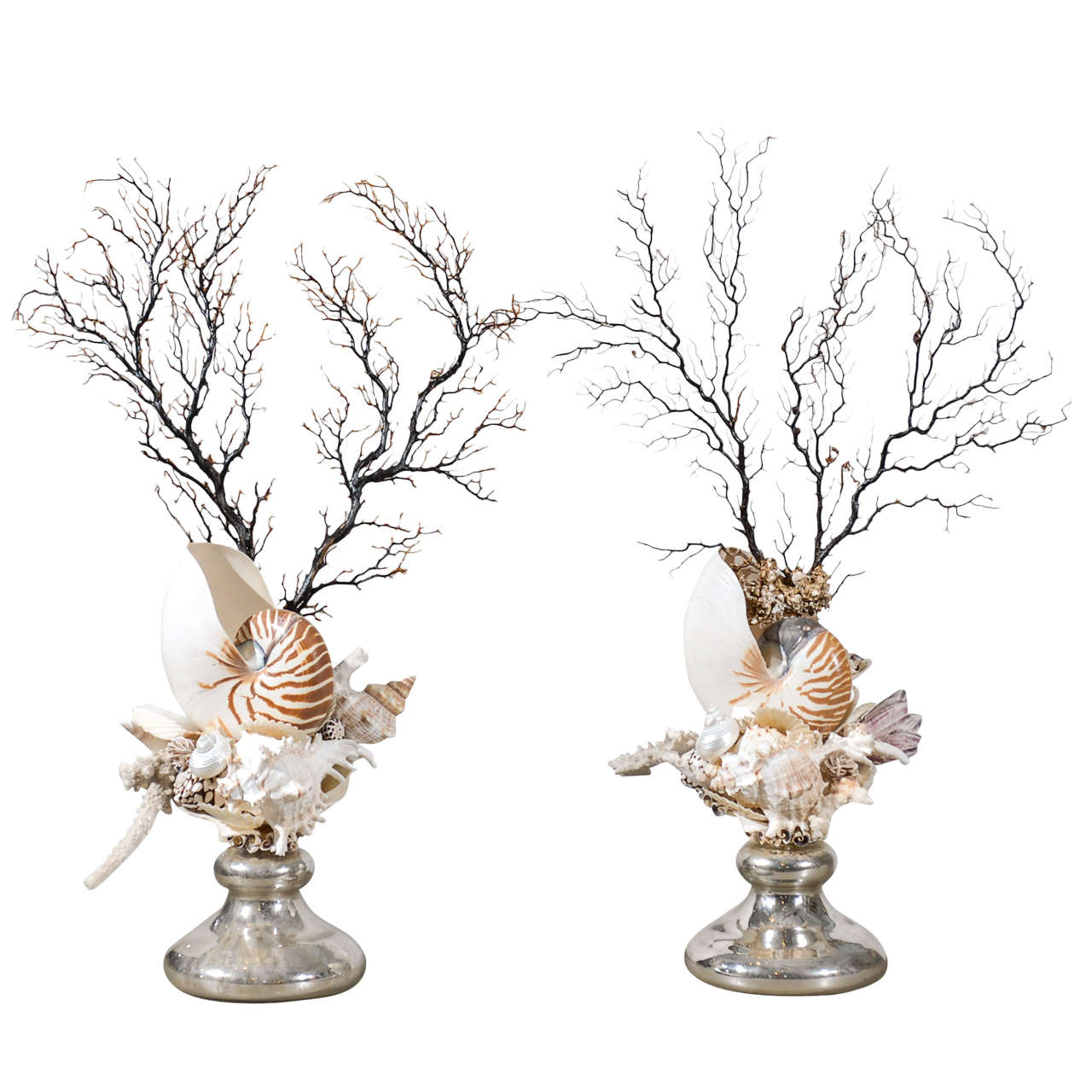 Pair Of Sea Life Decorative Objects At 1stdibs