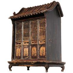 Chinese Miniature Shrine Cabinet