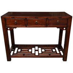Three-Drawer Table or Desk