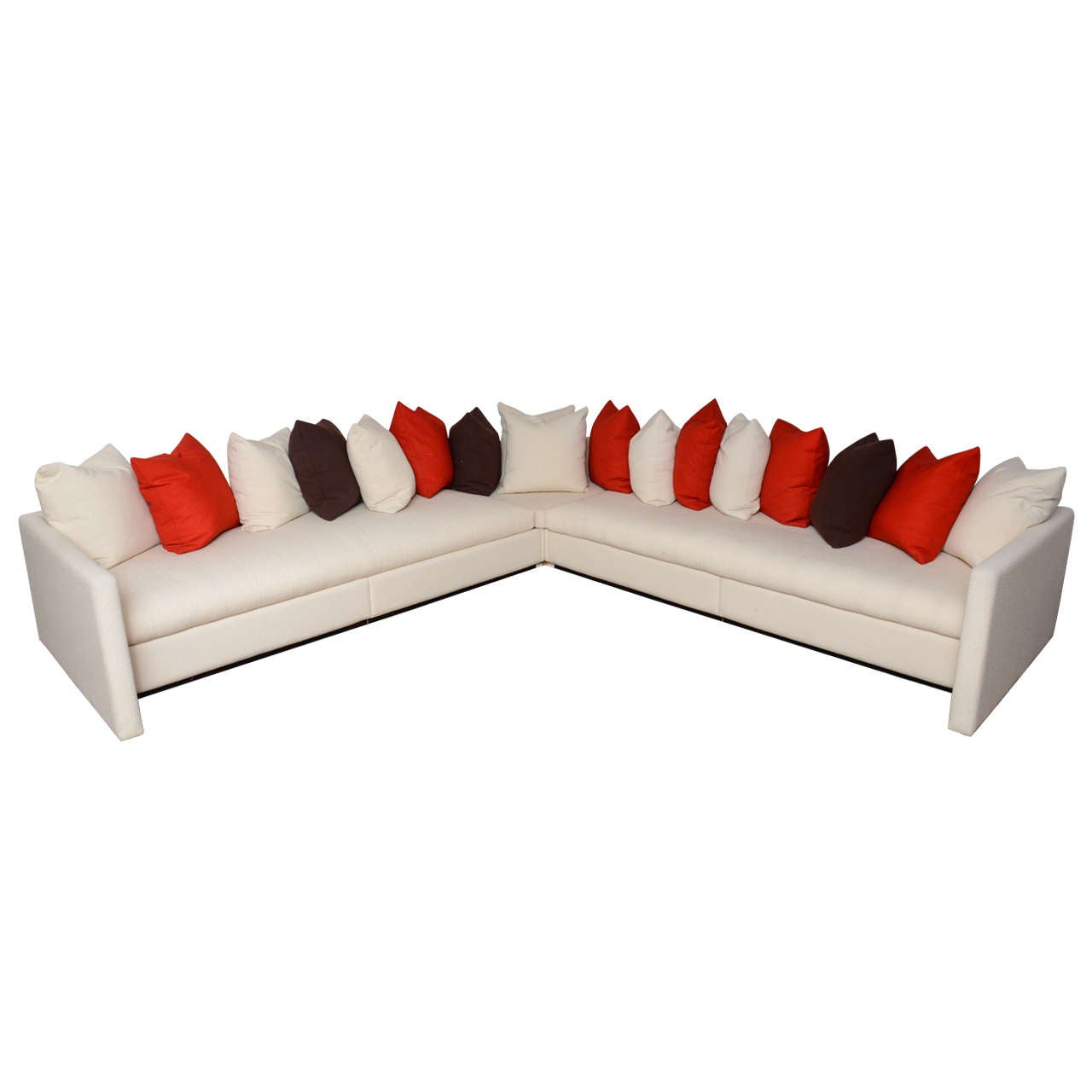 joe d u0026 39 urso sectional sofa with original knoll fabric at