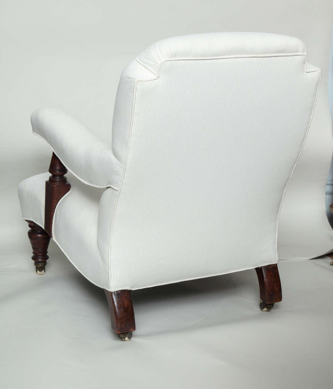 English Edwardian Open Arm Club Chair At 1stdibs