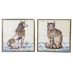 Pair of Late 18th Century Dutch Delft Tile Pictures