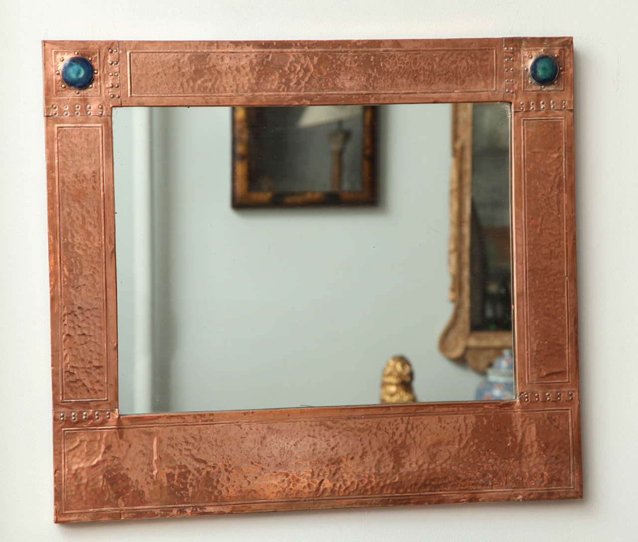 English Arts And Crafts Copper Mirror At 1stdibs
