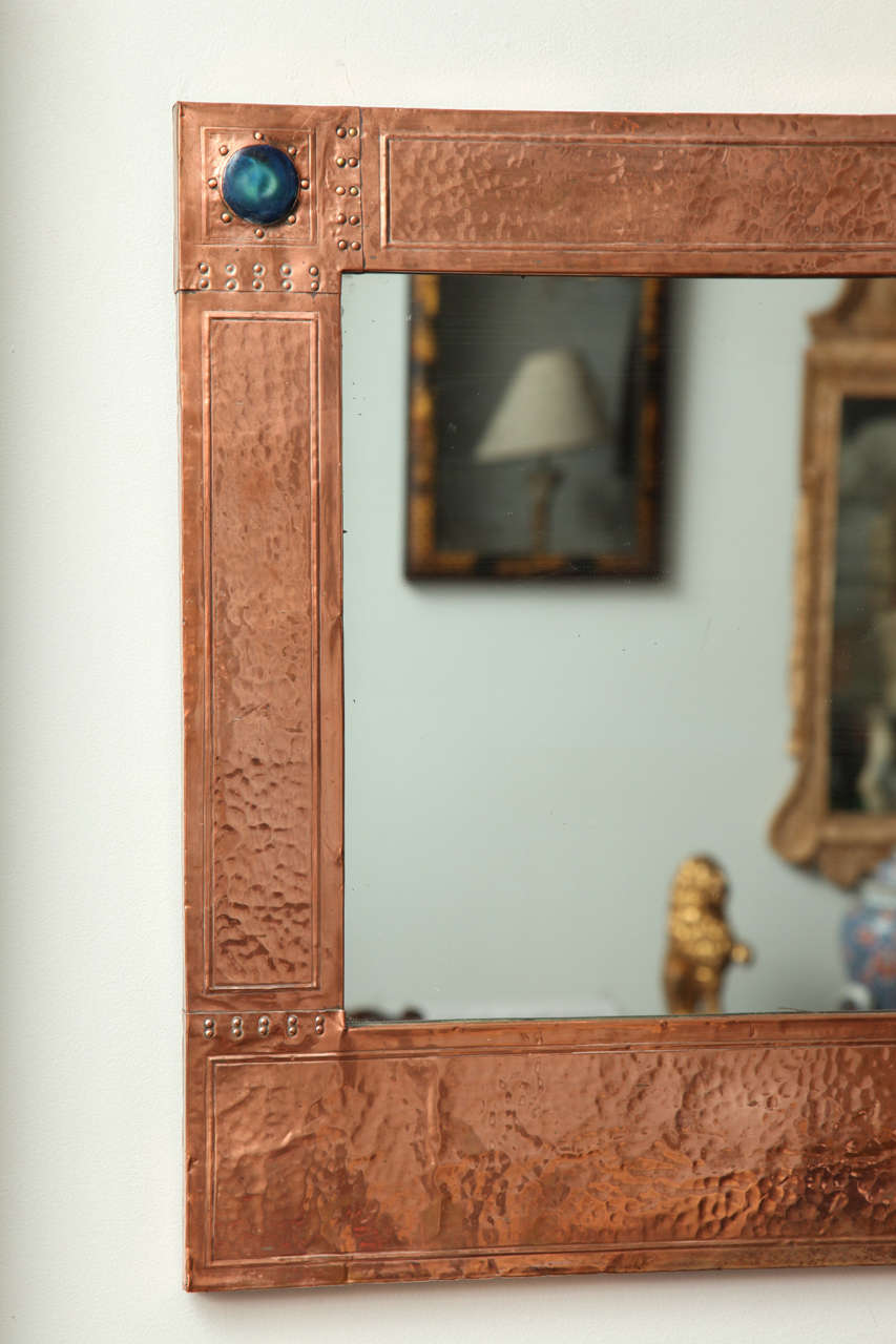 Arts and crafts mirrors - English Arts Crafts Copper Mirror 3