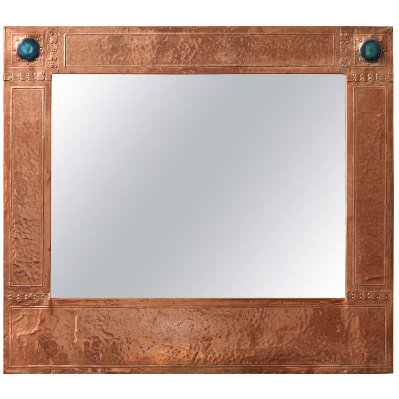 Arts and crafts mirrors - English Arts Crafts Copper Mirror 1