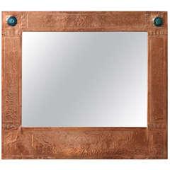 English Arts & Crafts Copper Mirror