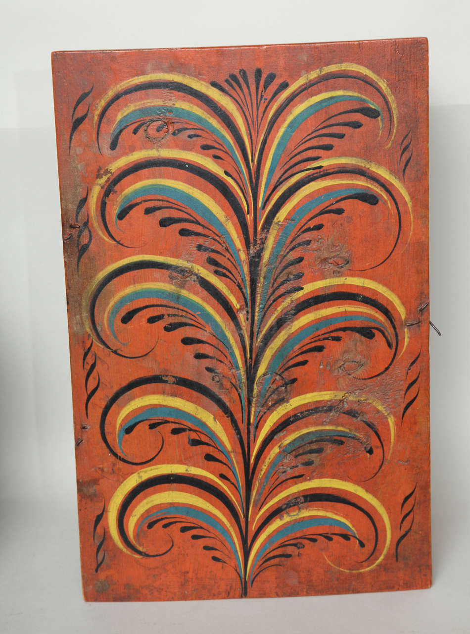 Wood Collection of Three Norwegian Folk Art Boxes For Sale