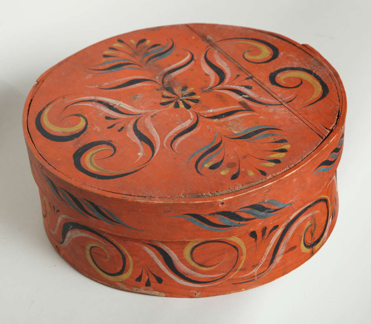 Collection of Three Norwegian Folk Art Boxes For Sale 3