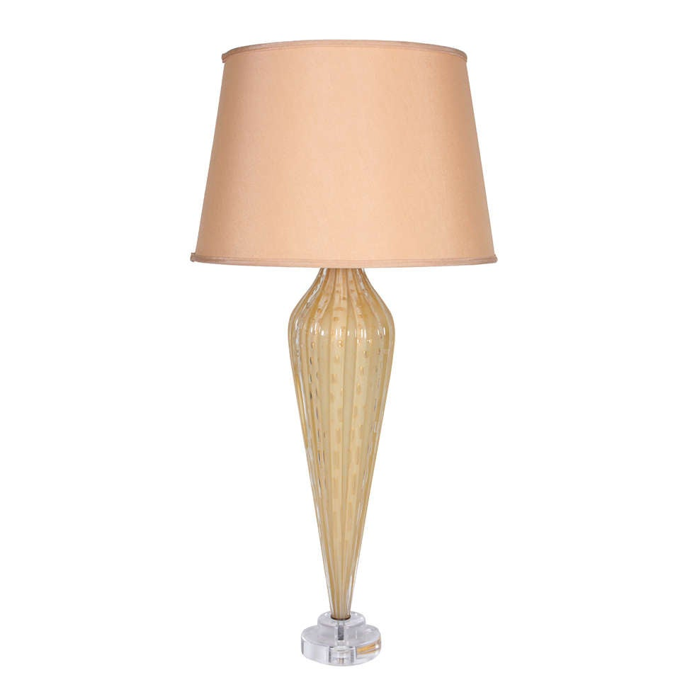 italian 1940s murano glass lamp for sale at 1stdibs. Black Bedroom Furniture Sets. Home Design Ideas