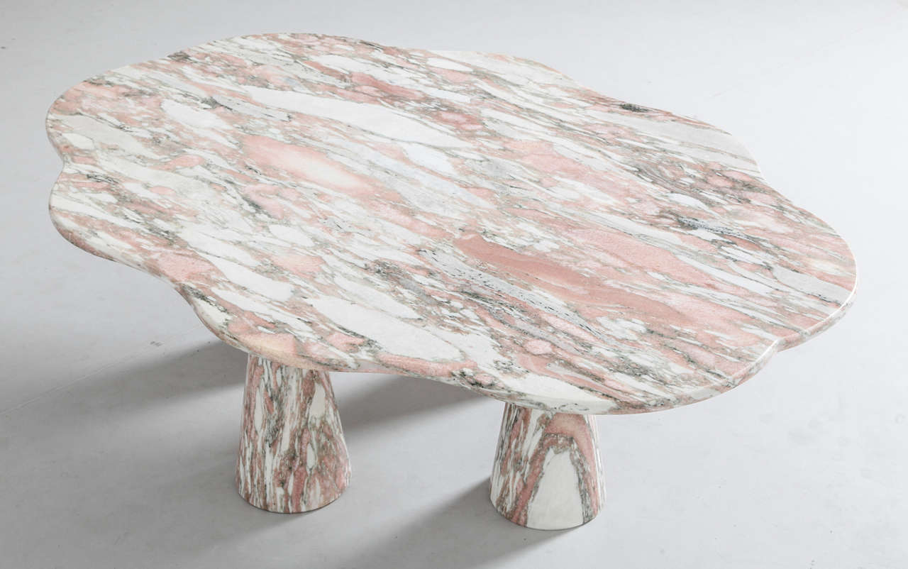 Stunning Italian Marble Coffee Table in Style of Mangiarotti 5