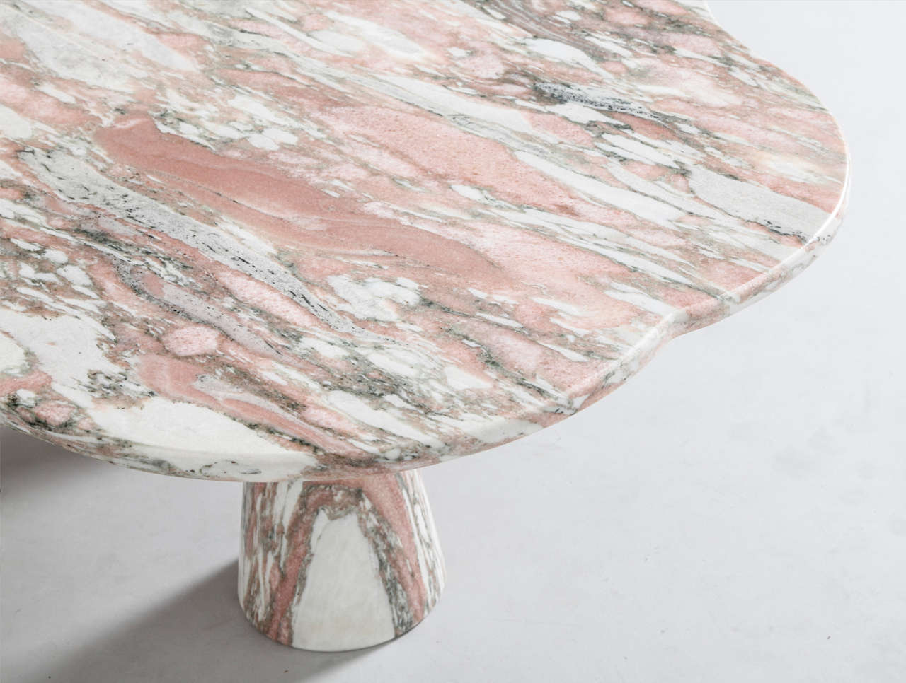 Stunning Italian Marble Coffee Table in Style of Mangiarotti 6