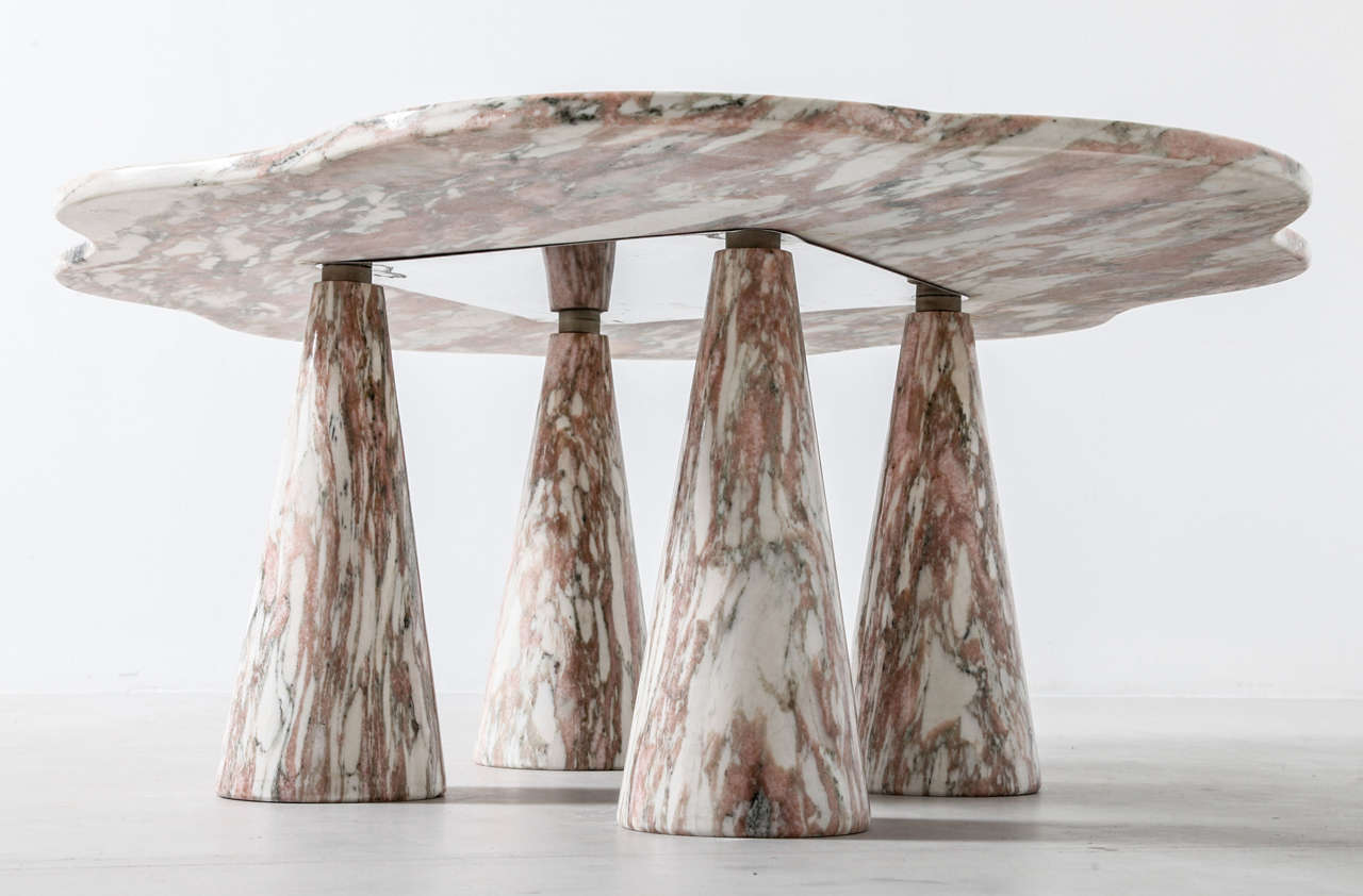 Stunning Italian Marble Coffee Table in Style of Mangiarotti 8
