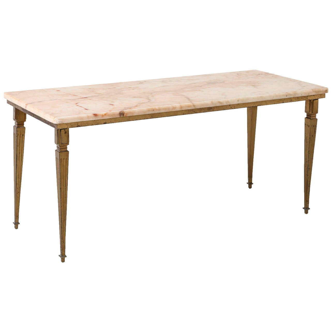 Maison Jansen Style Bronze And Marble Coffee Table At 1stdibs