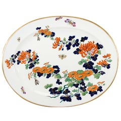 """Monumental English """"Imari"""" Decorated Platter with Butterflies"""