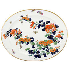 "Monumental English ""Imari"" Decorated Platter with Butterflies"
