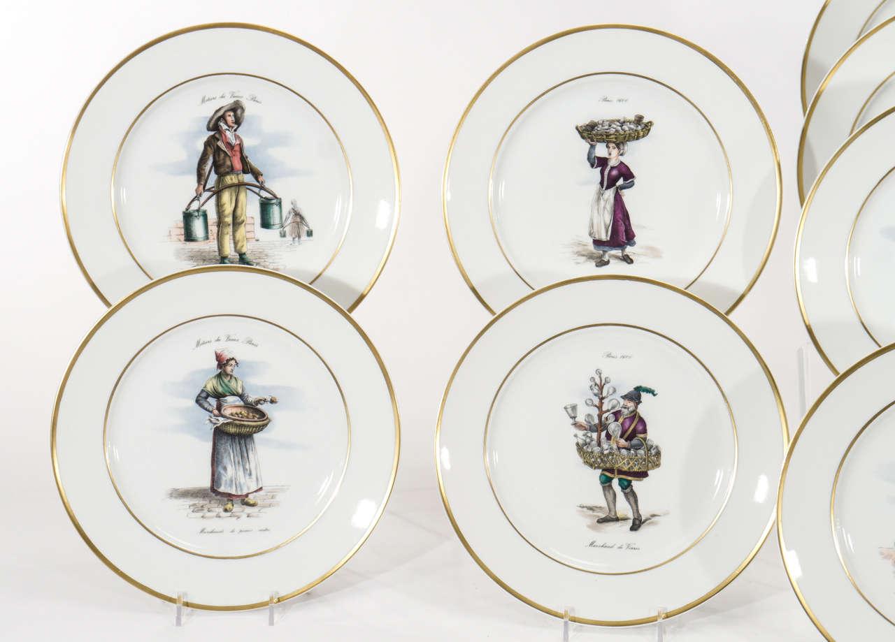 Set of 12 French Dinner Plates  sc 1 st  1stDibs & Set of 12 French Dinner Plates