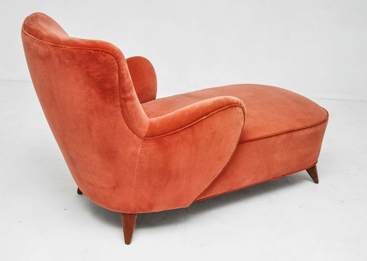Vladimir kagan chaise lounge for kagan dreyfuss 1950s at for Chaise longue lounge